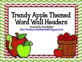 Chevron Apple Themed Word Wall Headers