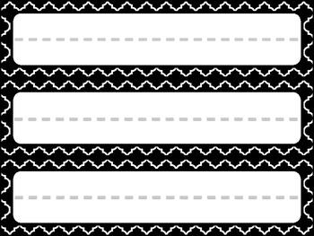 Trendy Black + White Name Plates