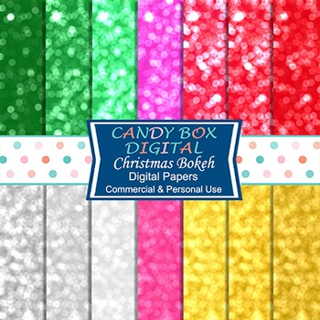 Christmas Bokeh Digital Background Papers