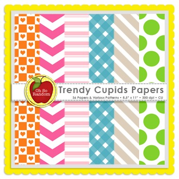 Trendy Cupids {Papers for Commercial Use}