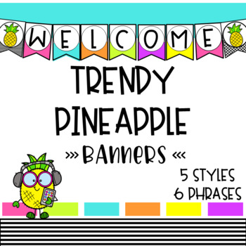 Trendy Pineapple Banners