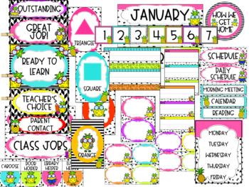 Trendy Pineapple Classroom Decor
