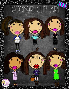 Trendy Teacher Clip Art {Confetti and Creativity Clip Art}