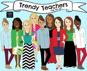 Trendy Teachers Clip Art (Set 1)