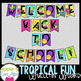 Trendy Tropical Bulletin Board Alphabet Set