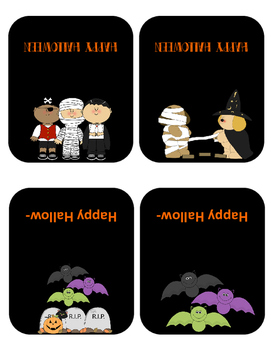 Jubilee's Junction - HALLOWEEN Treat Bag Topper Tags