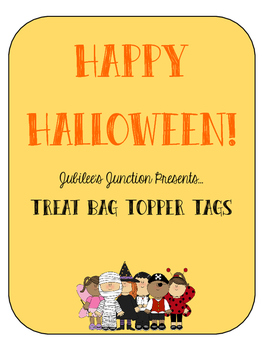Jubilee's Junction - HALLOWEEN Treat Bag Topper Tags