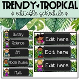 Trendy and Tropical EDITABLE Schedule