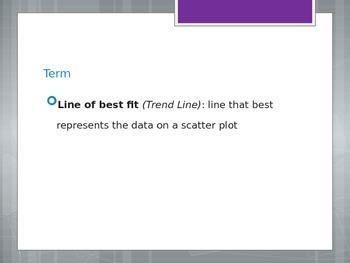 Trent Line on Scatterplots