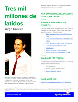 Tres Mil Millones de Latidos: Spanish Song to Practice SER and ESTAR