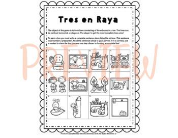 Tres en Raya: Preposiciones Posiciónales