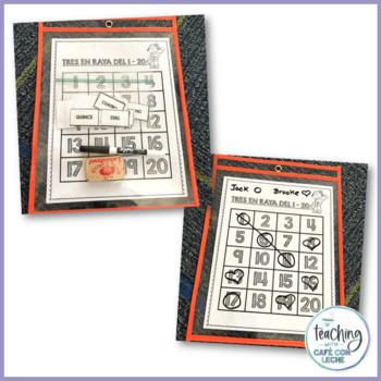 Tres en raya / Spanish Numbers 3-in-a-Row