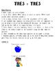 Tres y Tres: Spanish Noun/Adjective Game to practice gende