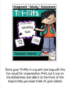 Tri-Bits - NUMBER NAMES