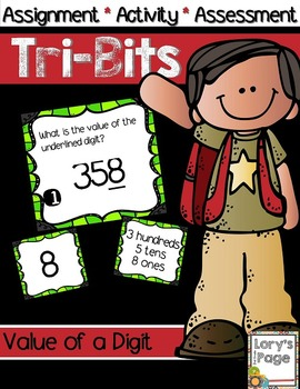 Tri-Bits - VALUE OF A DIGIT one ten hundred