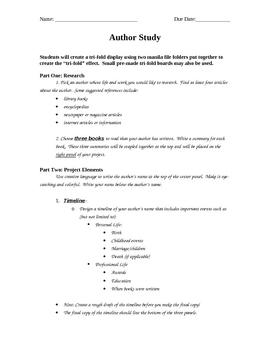 Tri-Fold Author Study