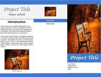 tri fold brochure template for google docs by luke gunkel tpt