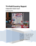 Country Report -Research-Tri-Fold Poster/Project Instructions-(World Geography)