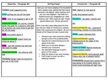 Tri-Fold Narrative Writing Prompt and Organizer