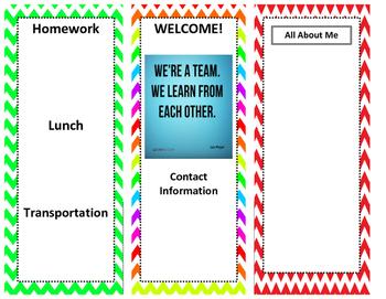 Tri-Fold Parent Orientation Brochure Editable