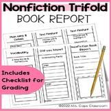 Tri-fold Book Report Nonfiction 3rd & 4th Grade