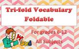 Tri-fold Vocabulary Foldable