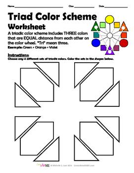 Triad Color Scheme Worksheet Triadic
