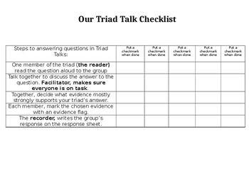 Triad Talk Checklist