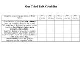 Triad Talk Checklist