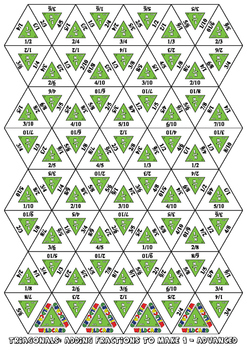 Triagonals - Fractions, decimals and Percentages - FULL SET