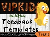 Pre-Written Trial Feedback For VIPKID - All Trial Lessons - Both Genders