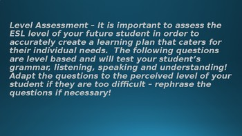 Trial and ESL Level Assessment Lesson Plan - Simple, yet amazingly successful!