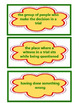 Trial of Cardigan Jones Vocabulary Cards, Unit 1 Lesson 2, Journeys 3rd Grade