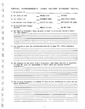 Trial of Peter Zenger