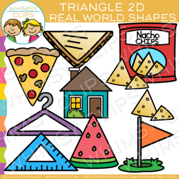 Triangle Real Life Objects 2D Shapes Clip Art