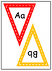 Triangle Alphabet Bunting   Rainbow   Editable