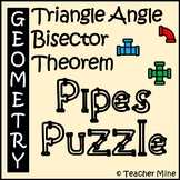 Triangle Angle Bisector Theorem - Pipes Puzzle Activity