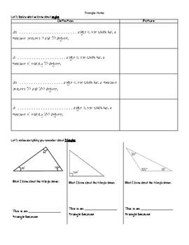 Triangle Angle Exploration Lesson