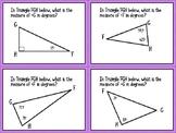 Triangle Angle Measure Task Cards (6.8A)