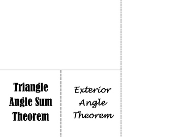 Triangle Angle Sum Foldable