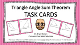 Triangle Angle Sum - Task Cards