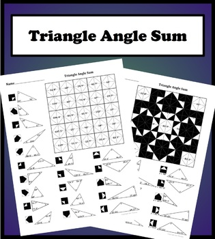 Triangle Angle Sum Theorem Color Worksheet