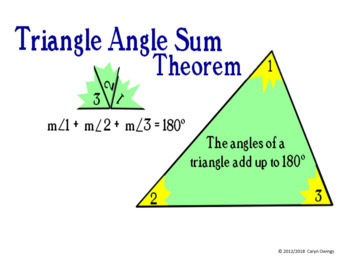 Triangle Angle Sum Theorem/Exterior Angle Theorem Walls that Teach Poster