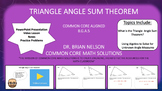 Triangle Angle Sum Theorem - Video Lesson, Notes, PowerPoi