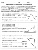 Triangle Angles and Opposite Sides Correlation Explain