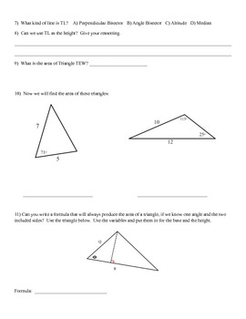 Triangle Area Discovery Activity