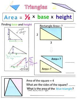 Triangle Area Worksheet