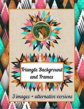 Triangle Background and Frames Clip Art