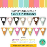 Triangle Banner | Classroom Decor {9 in x 7 in}