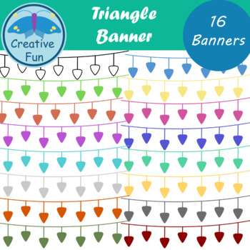Triangle Banner Clipart